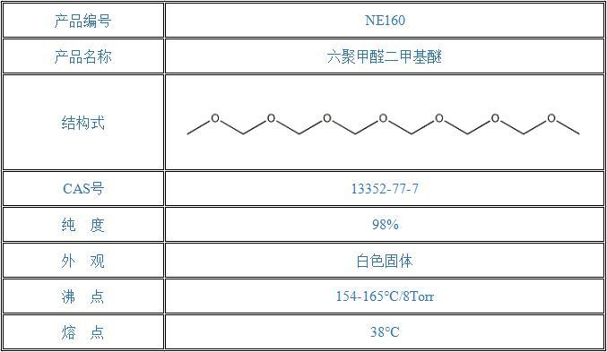 六聚甲醛二甲基醚(13352-77-7)