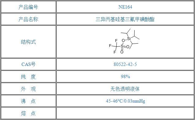三异丙基硅基三氟甲磺酸酯(80522-42-5)