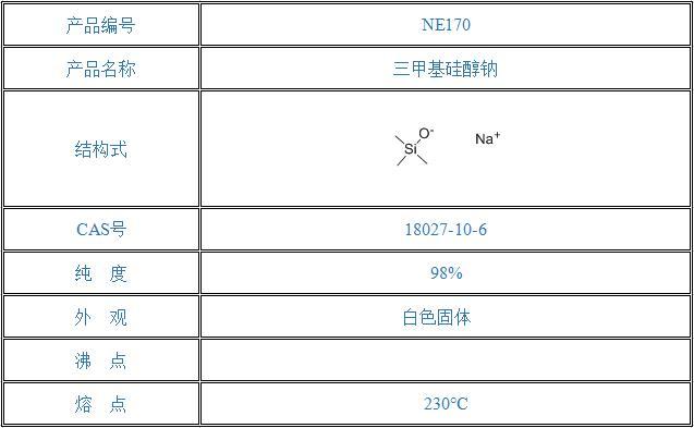三甲基硅醇钠(18027-10-6)