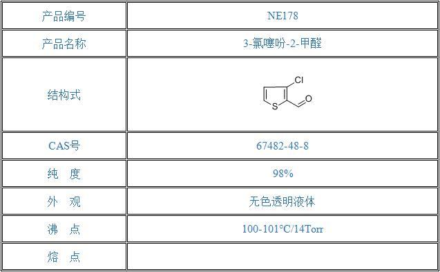 3-氯噻吩-2-甲醛(67482-48-8)