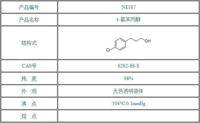 4-氯苯丙醇(6282-88-8)