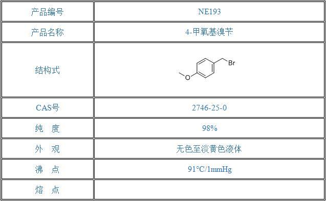 4-甲氧基溴苄(2746-25-0)