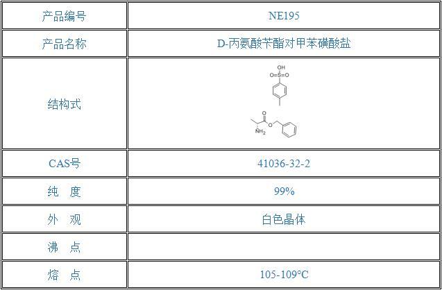 D-丙氨酸苄酯对甲苯磺酸盐(41036-32-2)