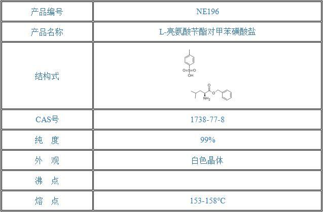L-亮氨酸苄酯对甲苯磺酸盐(1738-77-8)