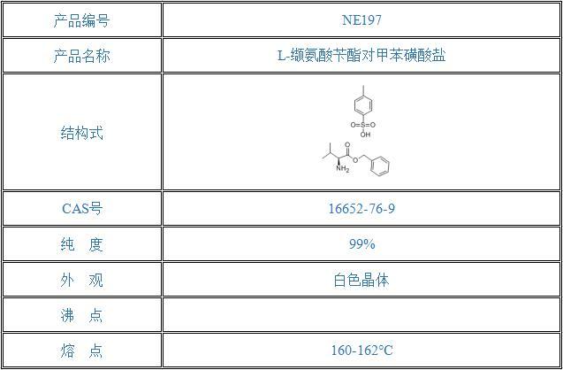 L-缬氨酸苄酯对甲苯磺酸盐(16652-76-9)