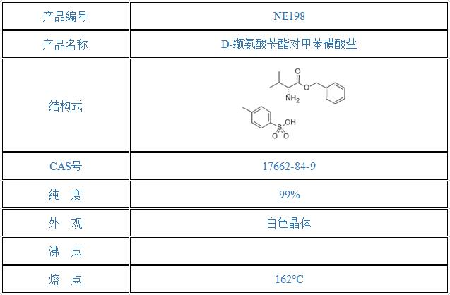 D-缬氨酸苄酯对甲苯磺酸盐(17662-84-9)