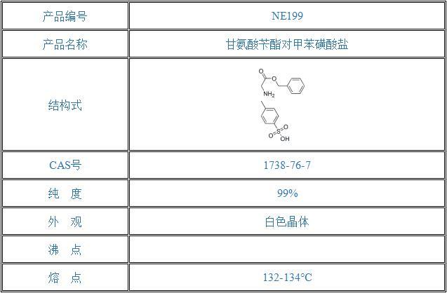 甘氨酸苄酯对甲苯磺酸盐(1738-76-7)