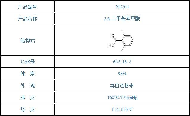 2,6-二甲基苯甲酸(632-46-2)
