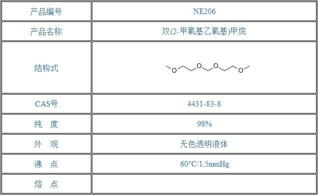 双(2-甲氧基乙氧基)甲烷(4431-83-8)