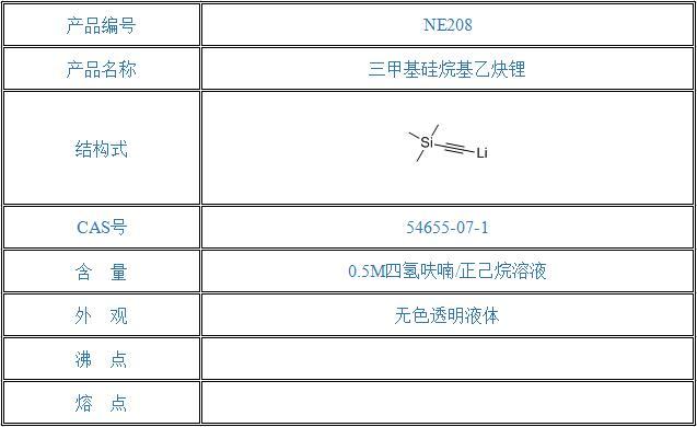 三甲基硅烷基乙炔锂(54655-07-1)