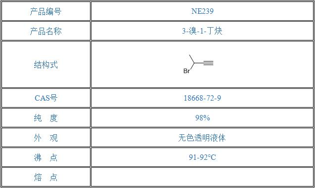 3-溴-1-丁炔(18668-72-9)