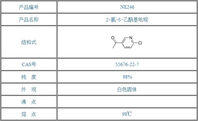 2-氯-5-乙酰基吡啶(55676-22-7)