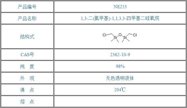 1,3-二(氯甲基)-1,1,3,3-四甲基二硅氧烷(2362-10-9)