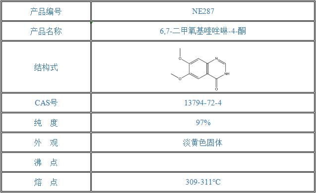 6,7-二甲氧基喹唑啉-4-酮 (13794-72-4)