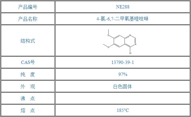4-氯-6,7-二甲氧基喹唑啉(13790-39-1)